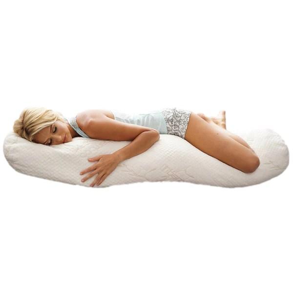 puresleep body pillow of organic latex