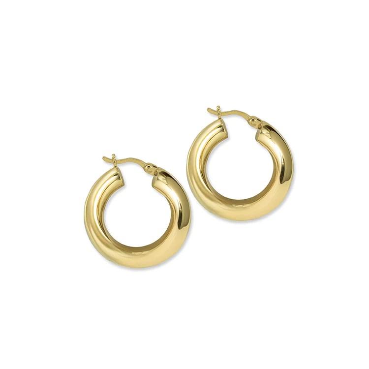 MINI TUBE HOOPS gold earrings