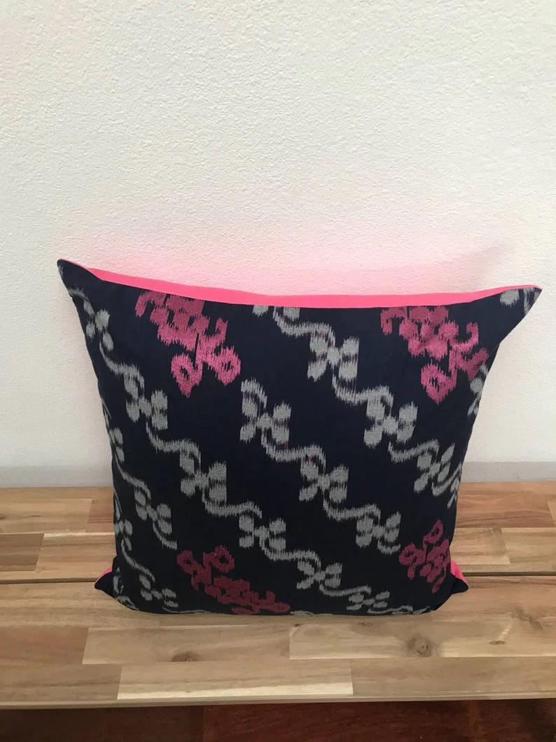 Ikat Pillow Cover Pink Blue Cover Only With No Insert 20x20 Inche Kasih Co Op
