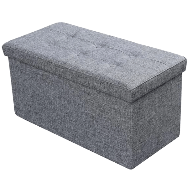 large folding fabric storage ottoman room in order