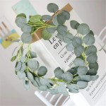 Eucalyptus Garland Wedding Decor Artificial Leaf Garland For Table Run Vanrina