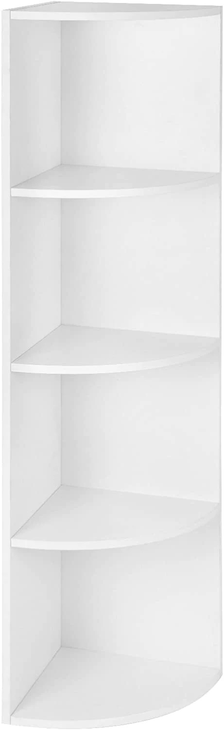 etagere bibliotheque d angle 4 casiers cuisine blanc 12 0000551