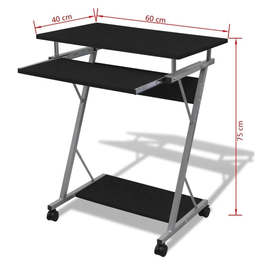 bureau table meuble travail informatique de bureau noire pour ordinateur noir