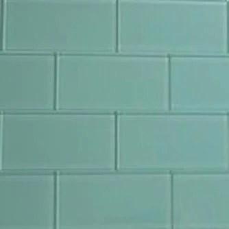 sea glass green glass subway tile 3x6 sample