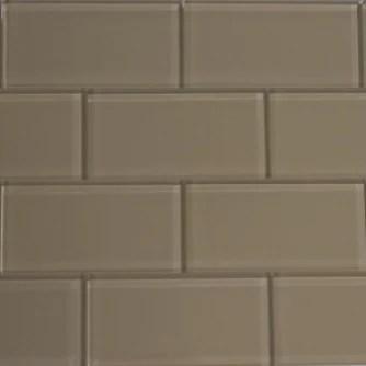 caramel beige glass subway tile 3x6 sample