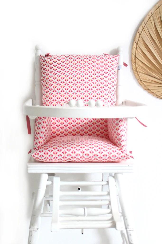 coussin chaise haute lotus