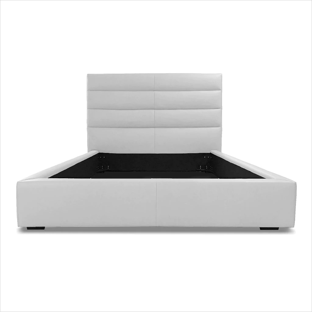 Abaco Leather Bed White Scan Design Modern And Contemporary Furniture Store