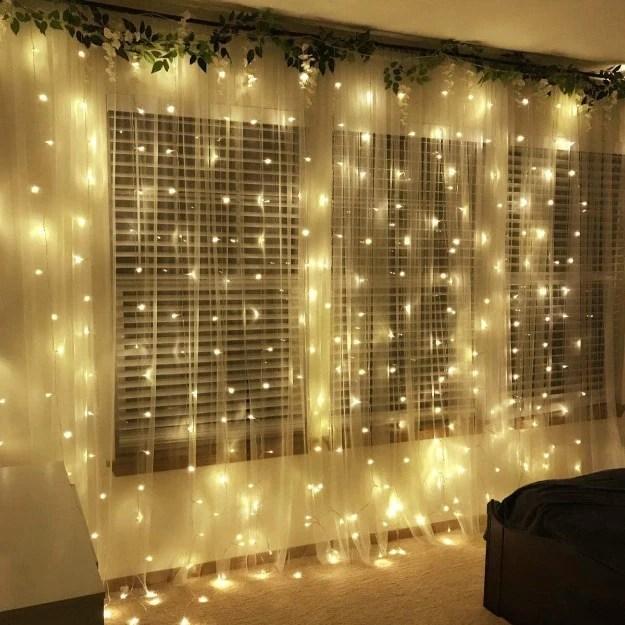 curtain led lights warm white