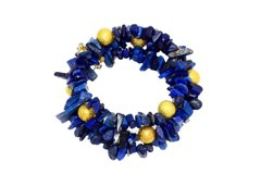 Lapis Gemstone Blue Wrap Bracelet