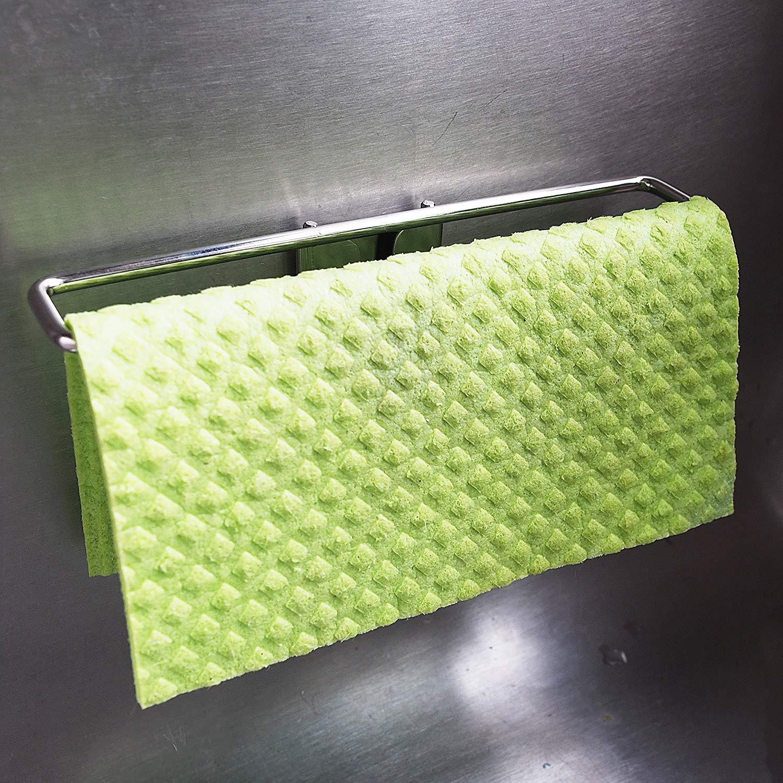 best dish cloth holder caddy for kitchen sink premium stainless steel no suction sponge cloths hanger dryer for washcloth swedish dishcloth not