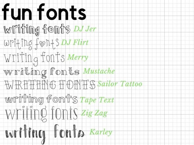 Favorite Writing Fonts in Design Space — Craft-e-Corner