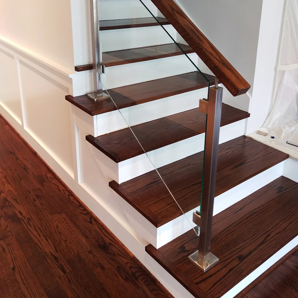 Engineered Paint Grade Mdf Stair Riser Affordable Stair Parts | Hardwood Steps And Risers | Gray Painted | Cherry Wood | Hardwood Floor | Timber | White