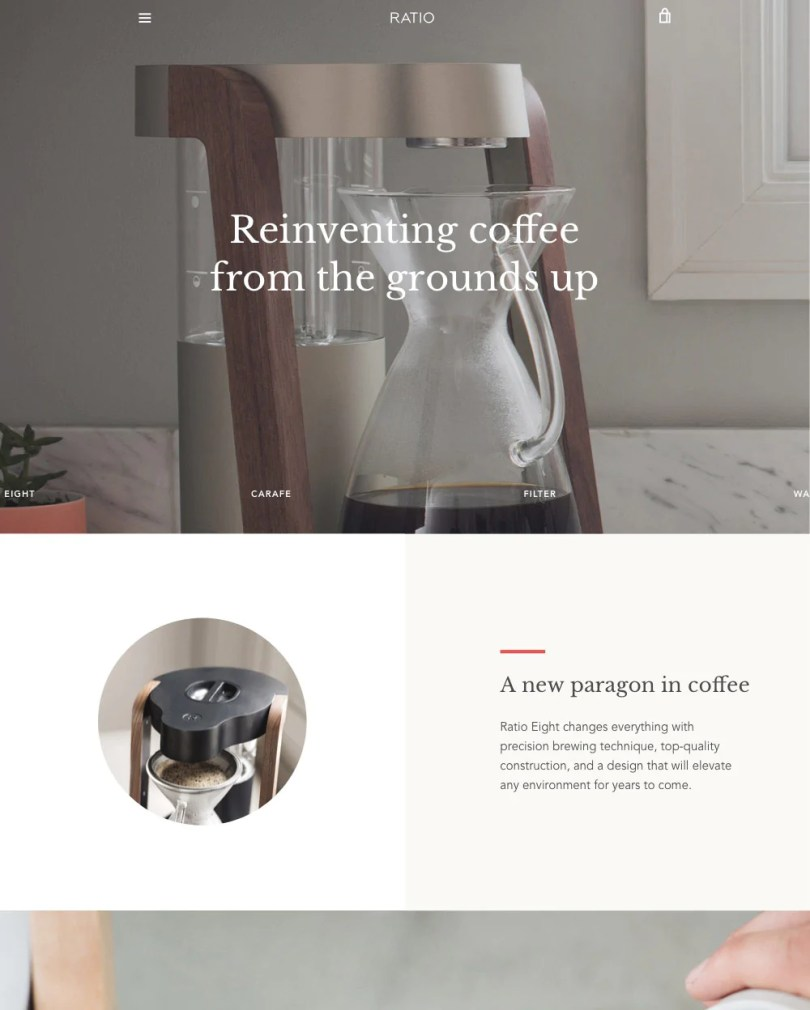 Narrative Shopify theme.