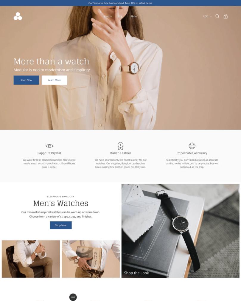 Modular Shopify theme.