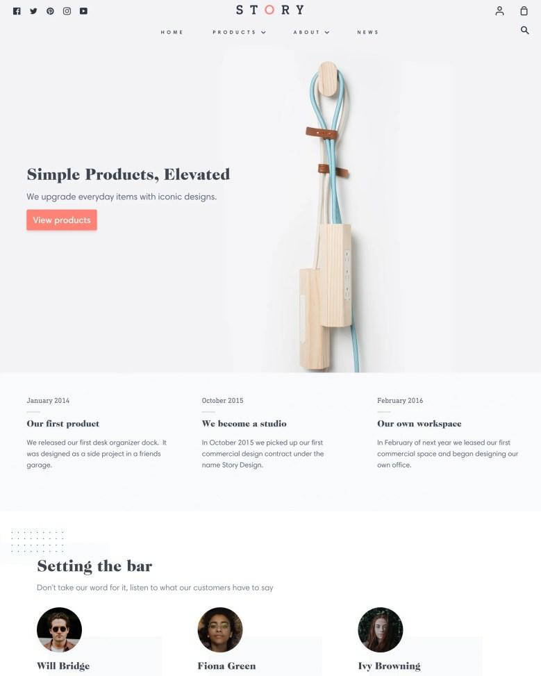 Story Shopify theme.