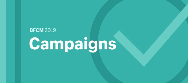 """Illustration featuring the word """"Campaigns"""" and a checkmark."""