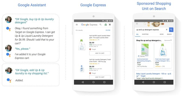 google shopping actions example