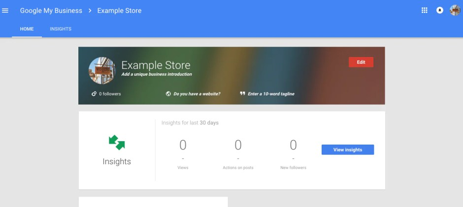 google my business store