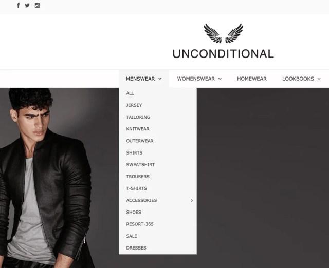 homepage navigation design