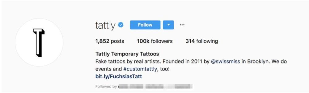 tattly instagram bio