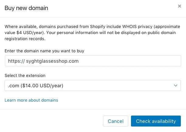 покупка домена syght glasses
