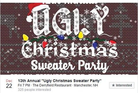 Ugly Christmas Sweater Party Manchester NH Benefits Make A Wish NH