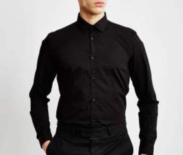 The Idle Man Black Shirt Mens