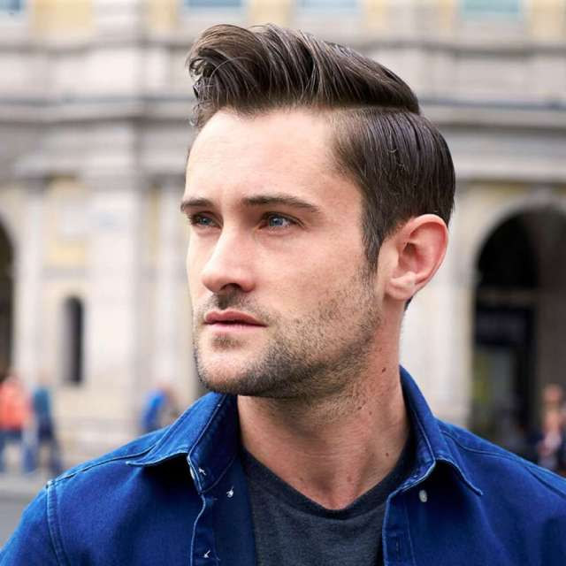 how to achieve a side part pompadour