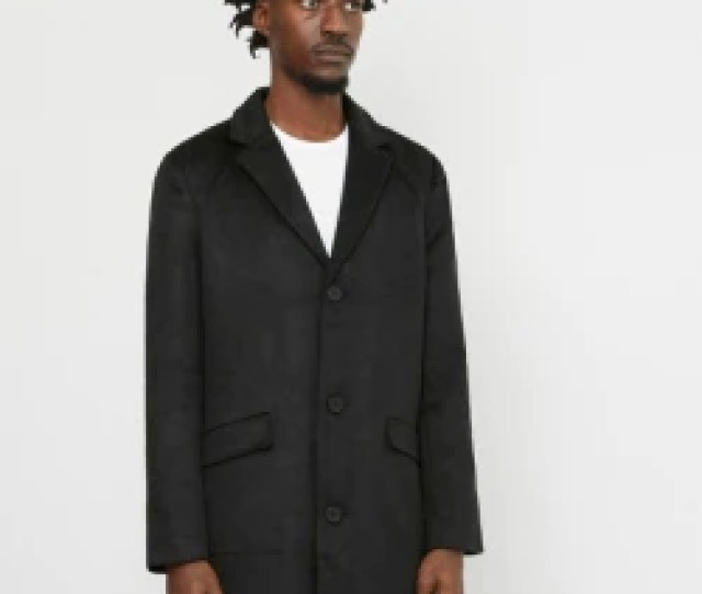 The Idle Man Black Overcoat 1712312241086_1