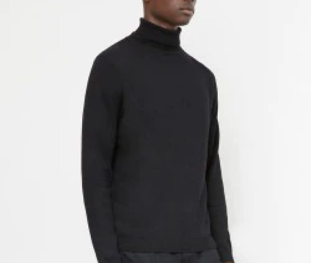 The Idle Man Turtle Neck Jumper Black 1715708531390_2