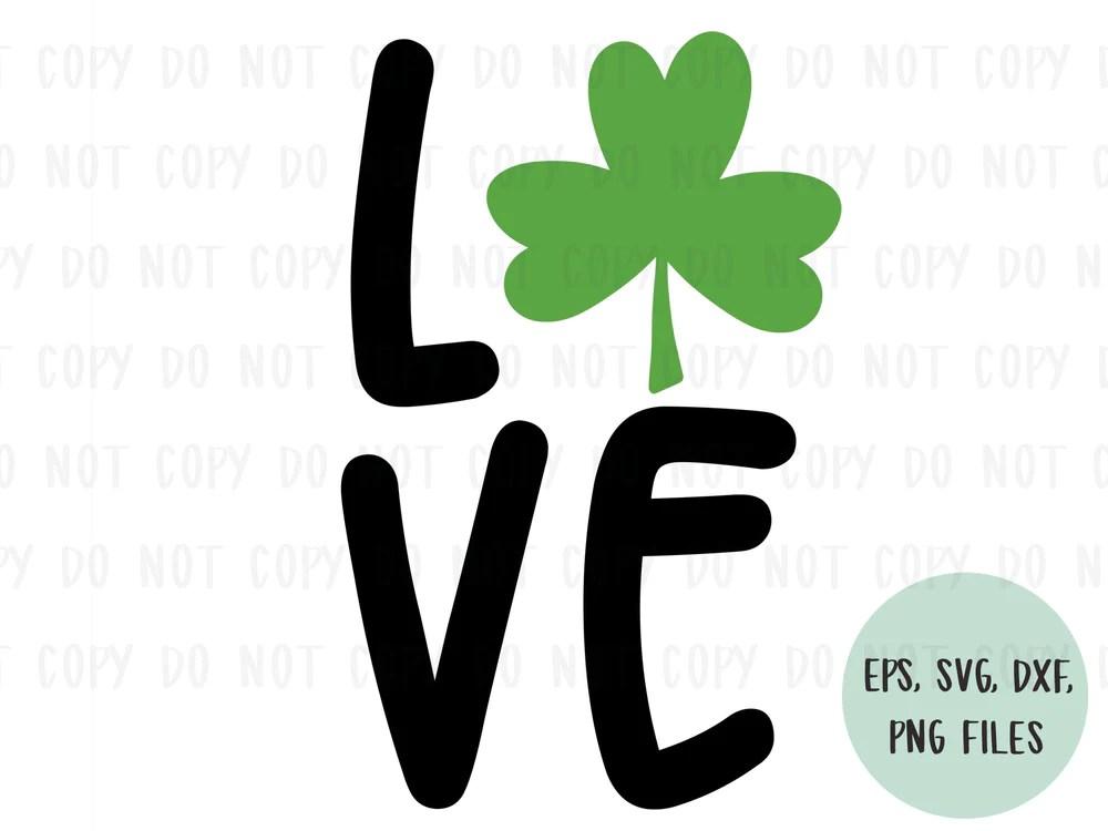 Download LOVE shamrock design file (dxf, eps, png, svg) - perfect ...
