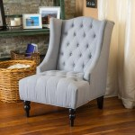 Clarice Fabric High Back Wingback Accent Chair Gdfstudio