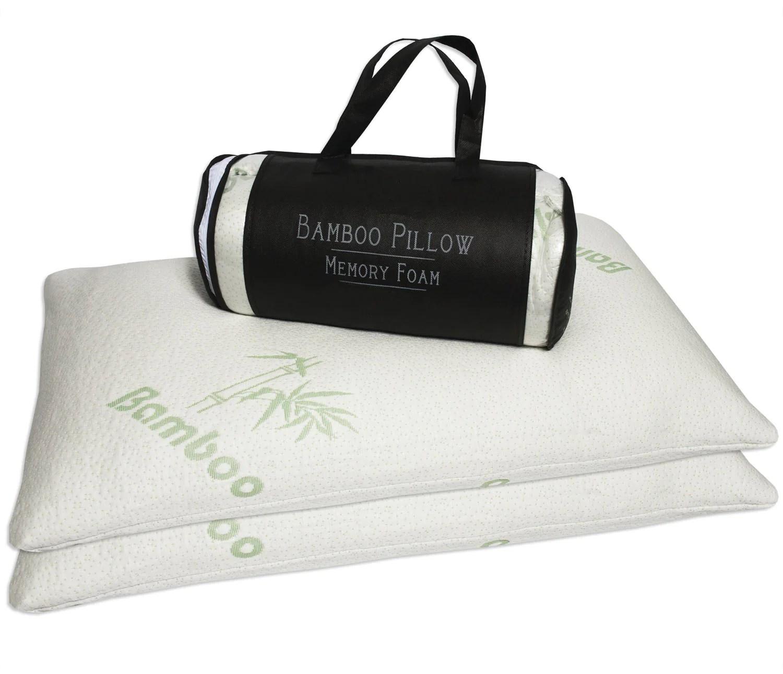 bamboo memory foam pillow queen size