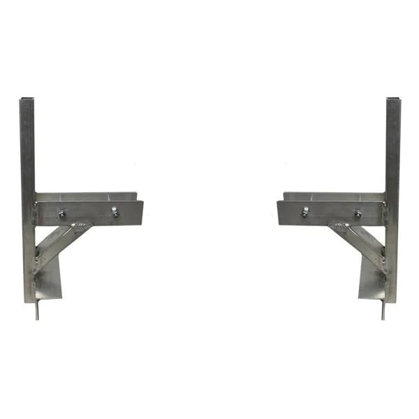 universal flat top cargo trailer ladder rack 2 mounting bracket with mounting screws