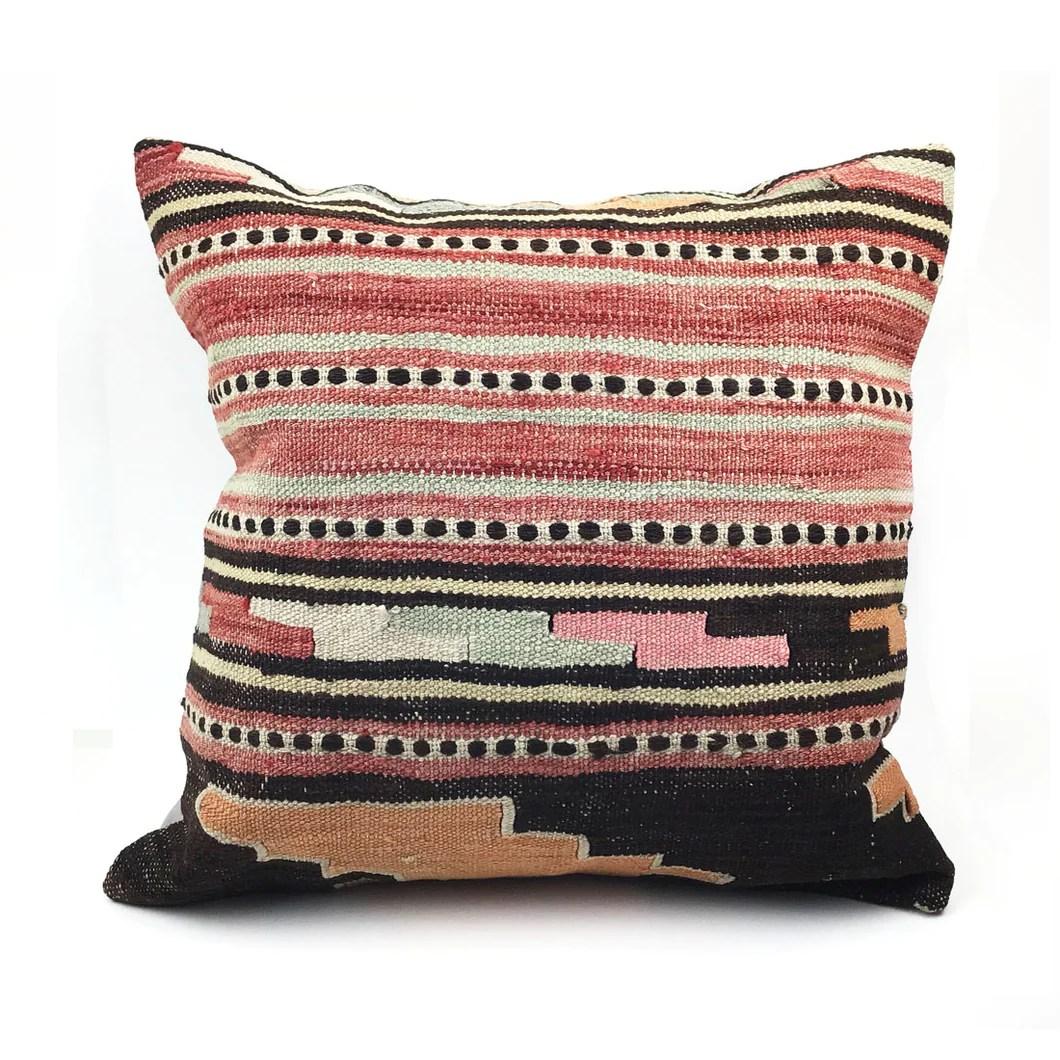 20 x 20 vintage kilim throw pillow with insert 21
