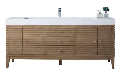 72 linear single sink bathroom vanity whitewashed walnut