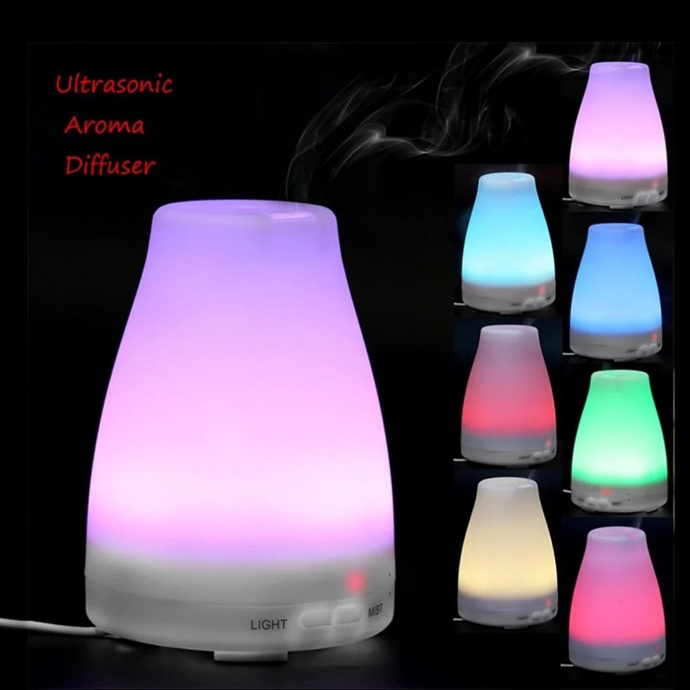 100ml colorful Light electric Essential Oil Aroma Diffuser Portable Ultrasonic Humidifier Aromatherapy diffuser