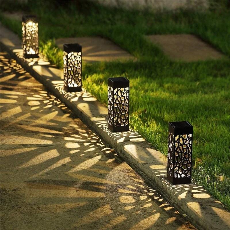 1/4/8PCS Waterproof Solar Lawn Lamp Garden Pathway Lights For Garden Lantern Decoration Outdoor Path Light Night Led Solar Lamps