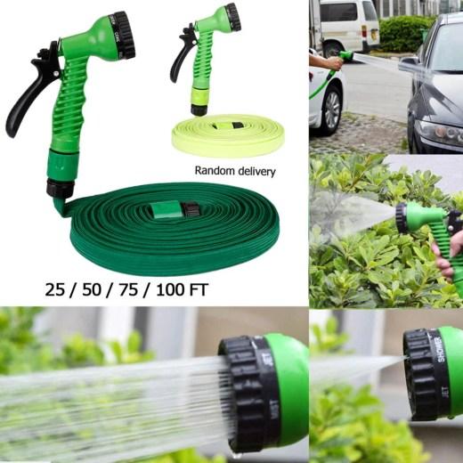 25-100FT Expandable Garden Hose Flexible Garden Water Hose for Car Hose Pipe Watering Connector With Spray Gun