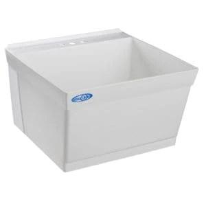 elm mustee 15f utilatub laundry tub pvc with wash board shi0026