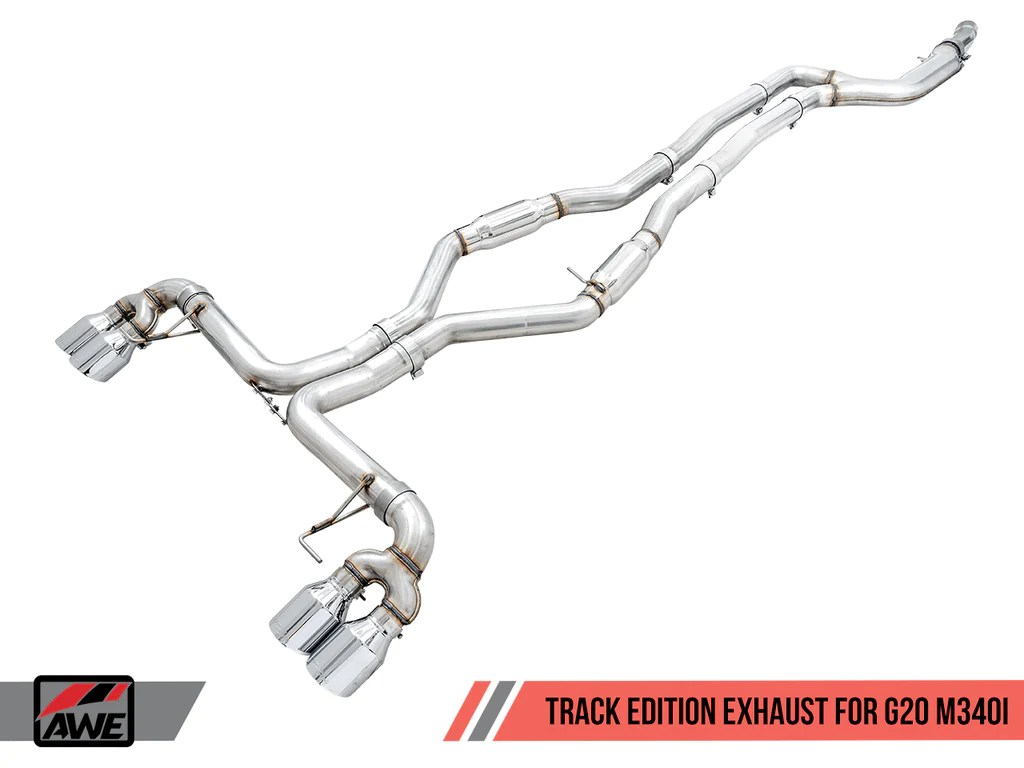 awe modular exhaust suite for bmw g20 m340i touring track