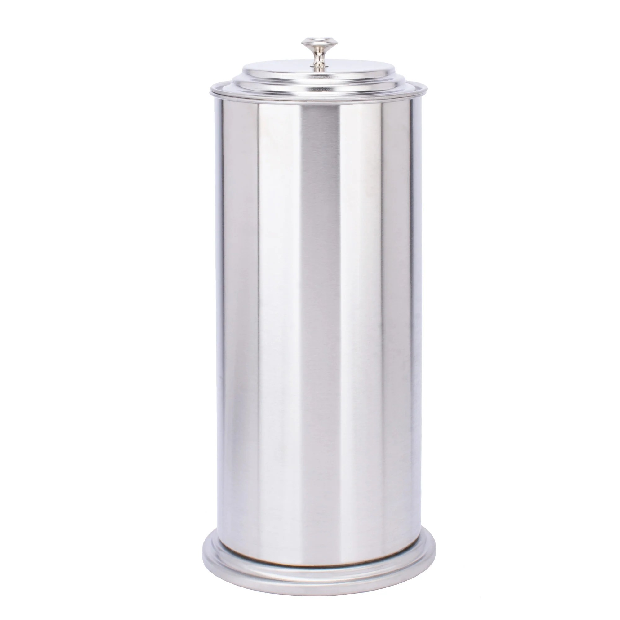 free standing extra large toilet paper holder stainless steel