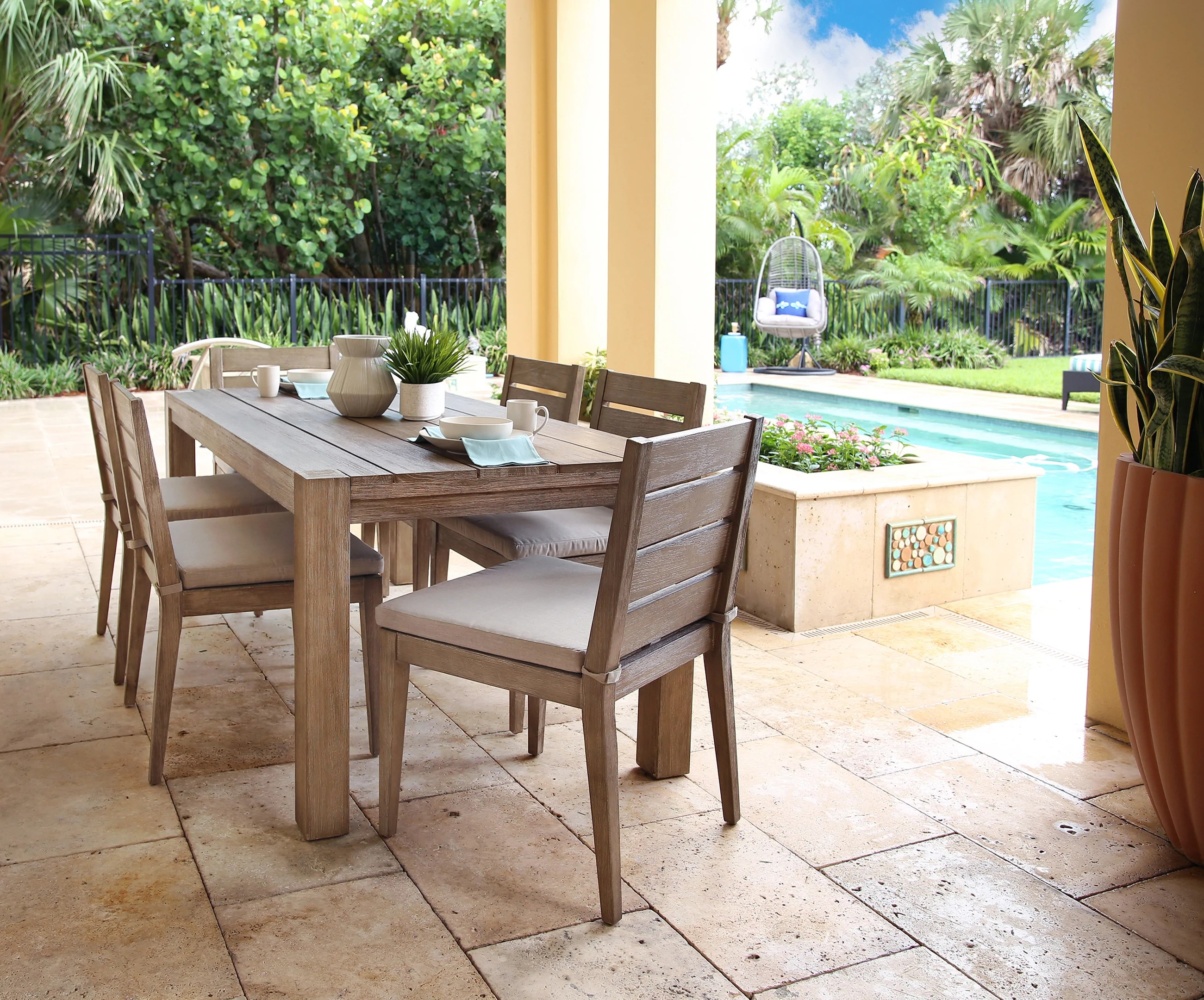 cabo 7 piece outdoor dining set
