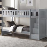 Galen Grey Twin Over Twin Step Bunk Bed Kane S Furniture