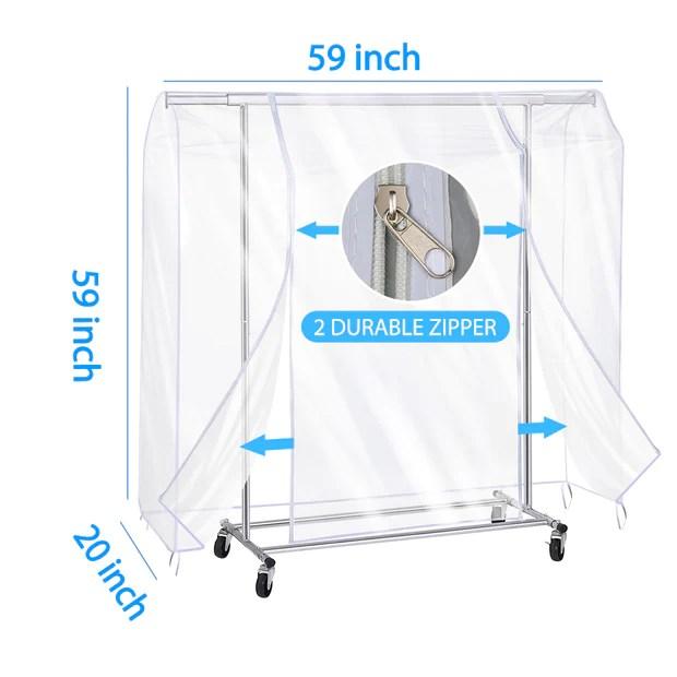 clear plastic peva garment rack cover siwutiao