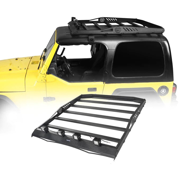 hardtop roof rack luggage carrier rack backbone system 97 06 jeep wrangler tj hardtop