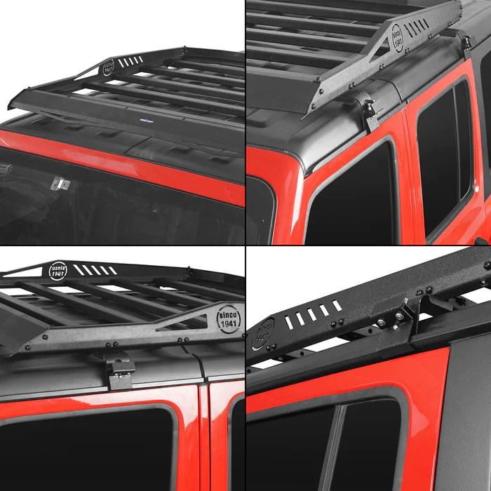 hard top roof rack cargo carrier basket 18 21 jeep wrangler jl 4 doors