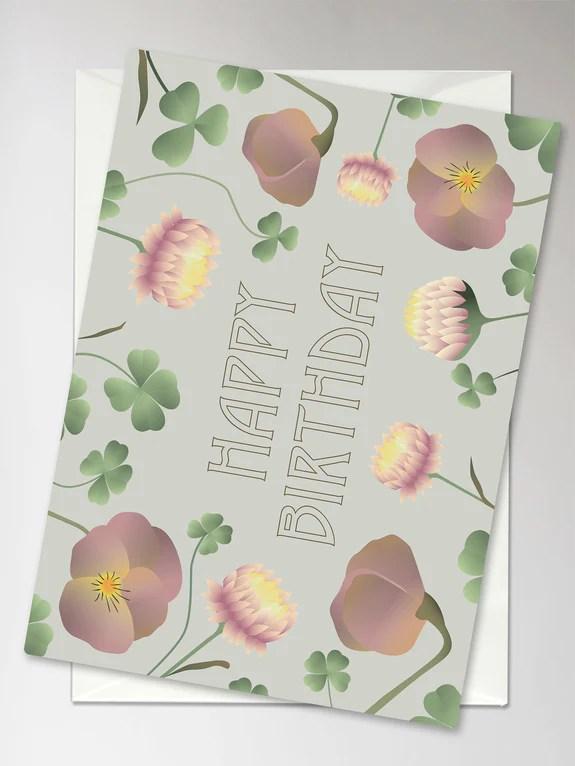 Happy Birthday Flower Bouquet Karte Vissevasse Deutschland