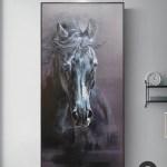 Large Black Arabian Horse Paintings Equestrian Painting Framed Horse Wall Art Artexplore