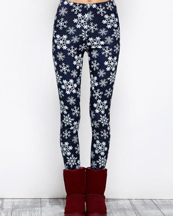 Christmas Snowflake Print Skinny Legging 9